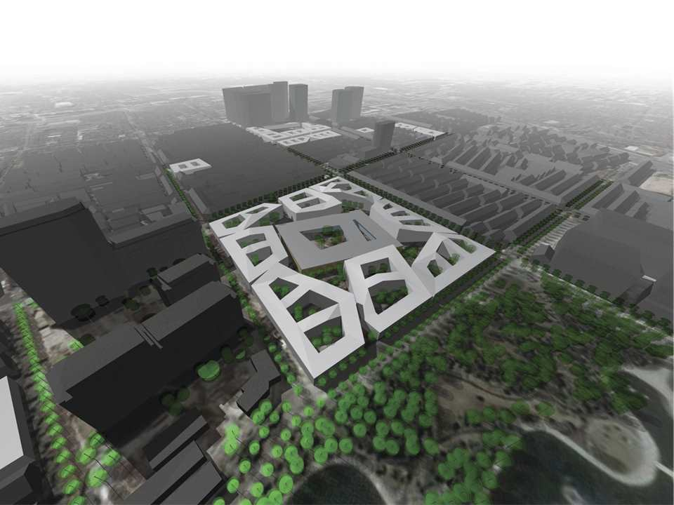 Low and dense urban elements