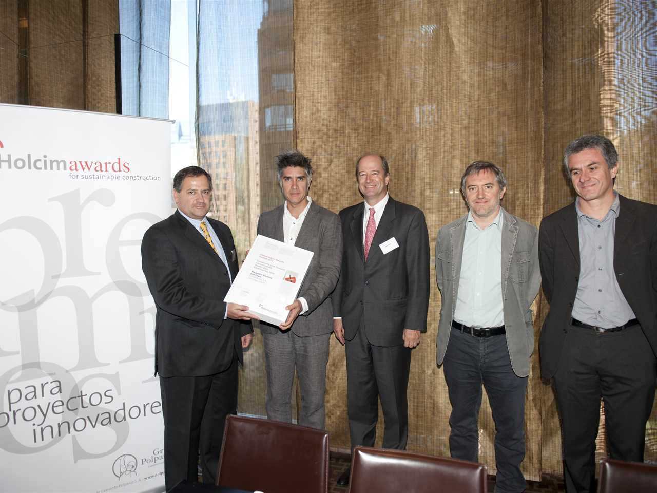 Global Holcim Awards 2012 Finalist certificate handover – Sustainable post-tsunami …