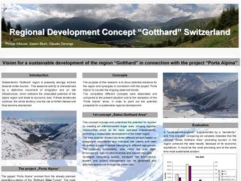 "Regional development concept ""Gotthard"" Switzerland"