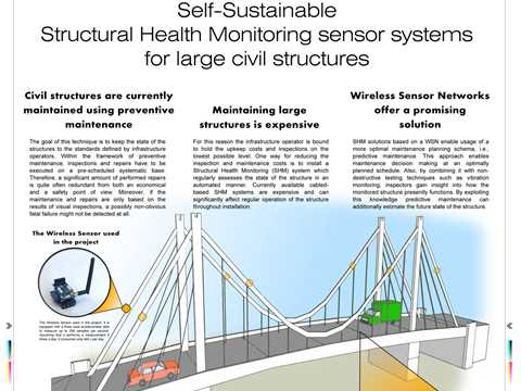 Self-Sustainable Structural Health Monitoring Sensor Systems for Large Civil Structures