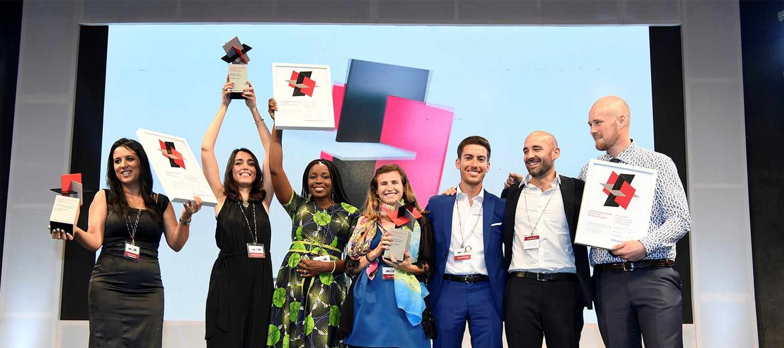 LafargeHolcim Awards 2017 for Africa Middle East, main prize winners (l-r): Fatima-azzahra …