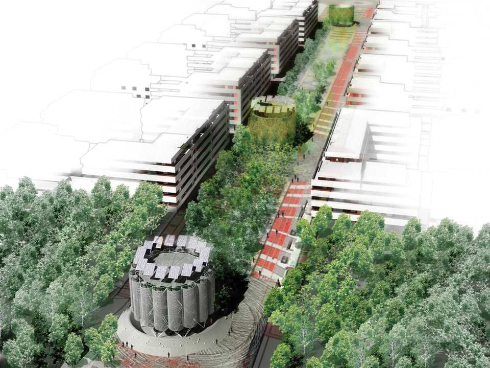 Holcim Awards Acknowledgement prize 2005 Europe: Ecological Boulevard, Madrid, Spain