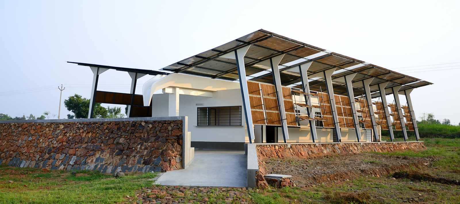 This primary healthcare facility in rural India by flying elephant studio has sophisticated …