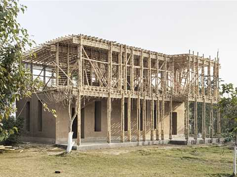 Project update July 2012 – Locally-manufactured cob and bamboo school building, Jar Maulwi, Pakistan