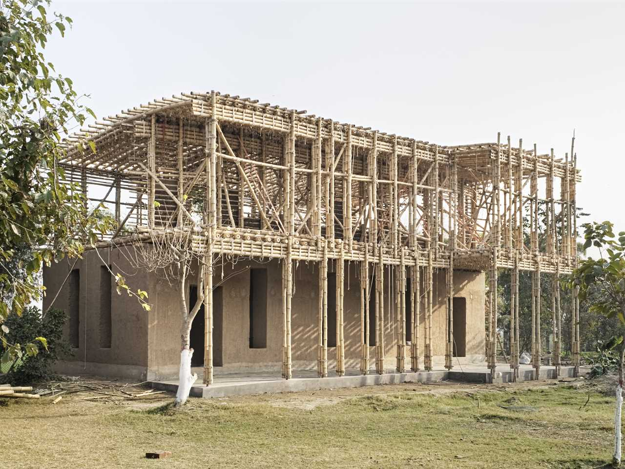 School Extension Under Construction Modern House
