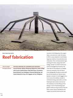 """Reef fabrication"" in First Holcim Awards for Sustainable Construction 2005/2006"