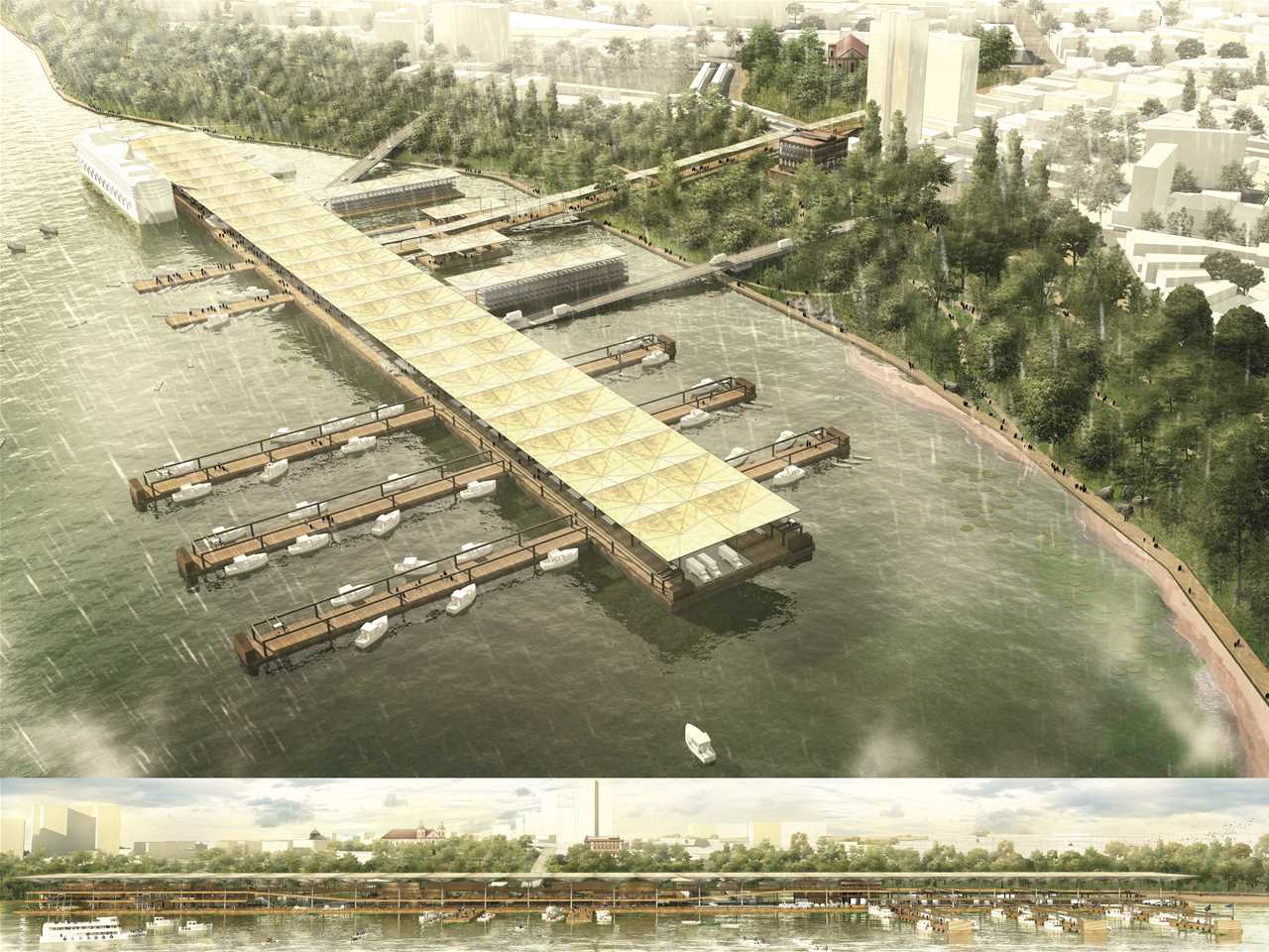 """Next Generation"" 1st prize – Fruit Salad: Riverside urban infrastructure redeployment, Manaus, …"