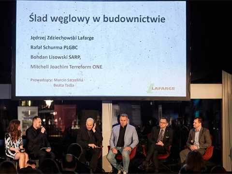 Reducing the carbon footprint panel discussion hosted by Association of Polish Architects