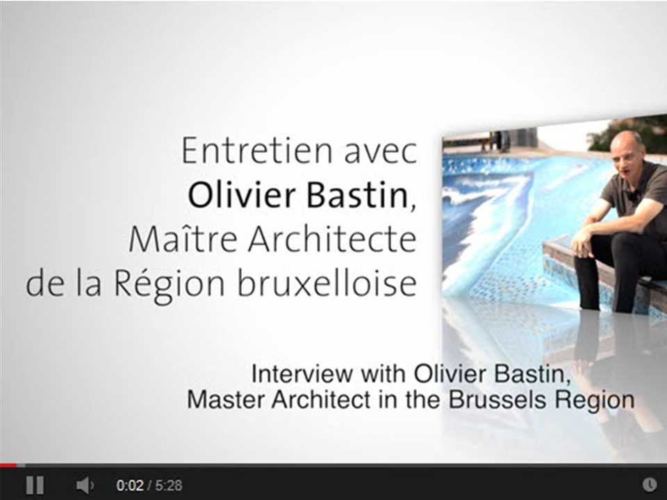 Olivier Bastin, Chief Architect for the Brussels-Capital Region.