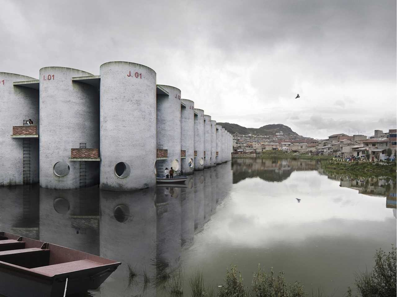Public baths and sewage treatment plant, Cerro de Pasco, Peru