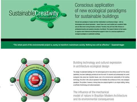 Sustainable creativity in architectural design - conscious application of new ecological …