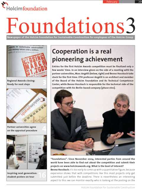 Cover of Foundations 3 Magazine