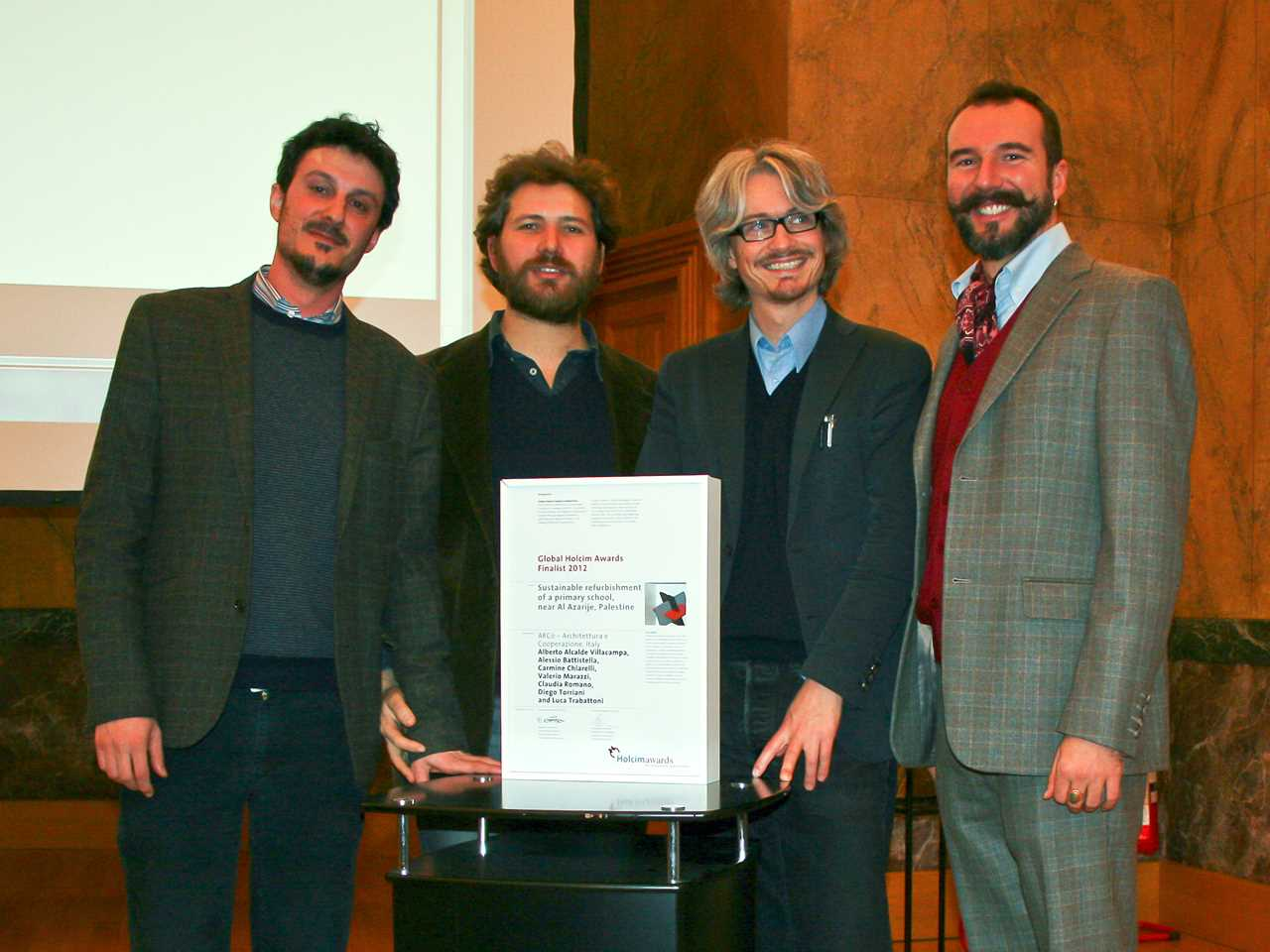 Global Holcim Awards 2012 finalist certificate handover – Milan, Italy