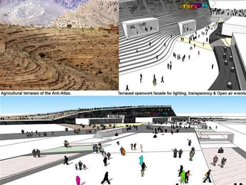 Project entry 2011 - Culturally-sensitive urban master plan, Agadir, Morocco: Terraced …