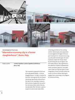 Alternative economy city - First Holcim Awards for Sustainable Construction 2005/2006