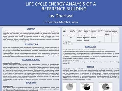 Life Cycle Energy Analysis of a Reference Building