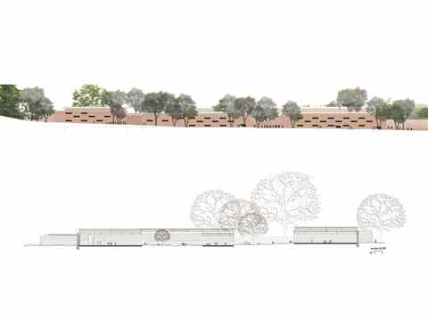 Project Entry 2014 Asia Pacific - Between Walls: Community medical center and school, …