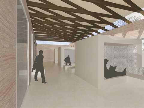 Project entry 2011 - Training center for sustainable construction, Marrakesh, Morocco: Perspective.