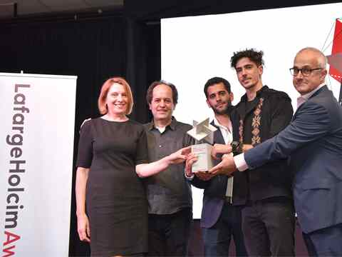 "Global LafargeHolcim Awards Ideas prize handover – ""Territorial Roof"" in Argentina"