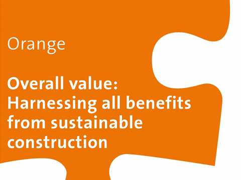 Orange Workshop: Overall value – Harnessing all benefits from sustainable construction