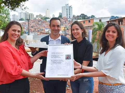 Global LafargeHolcim Awards finalist certificate for authors of prize winning neighborhood ...