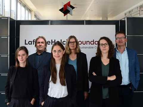 The team of the LafargeHolcim Foundation office (l-r): Mona Delluc, Kevin Jones, Vania …