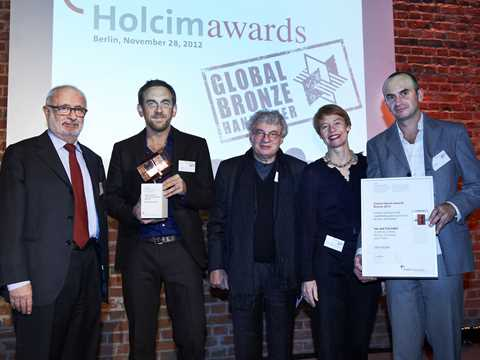 "Global Holcim Awards Bronze 2012 handover reception for ""Urban renewal and swimming-pool …"