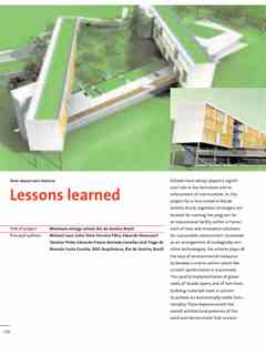 """Lessons learned"" in First Holcim Awards for Sustainable Construction 2005/2006"