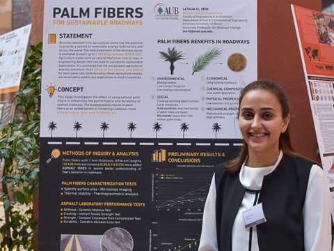 Palm Fibers for Sustainable Roadways