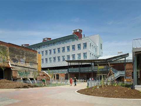 Project update August 2014 – Evergreen Brick Works heritage site revitalization, Toronto, ON, Canada