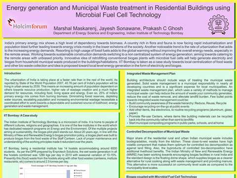 Energy Generation and Municipal Waste Treatment in Residential Buildings Using Microbial …